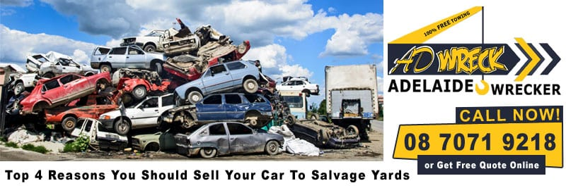 Top 4 reasons you should sell your car to salvage yards