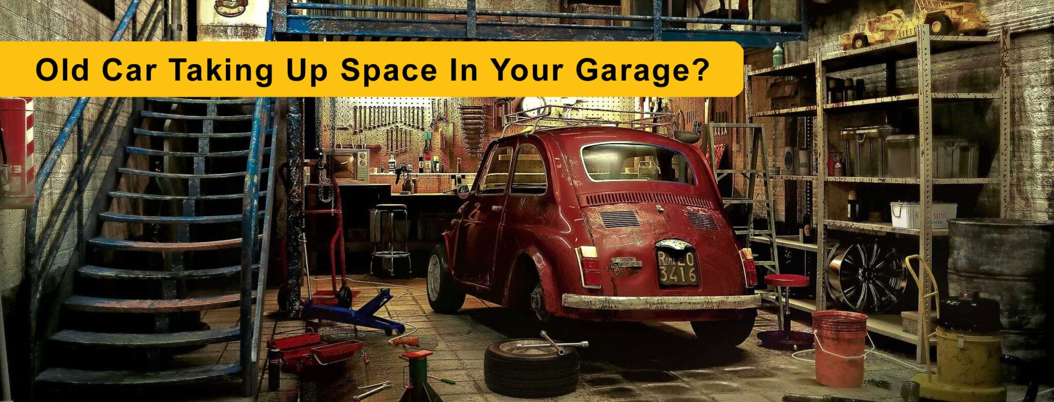 Don't Like That Old Car Taking Up Space In Your Garage?